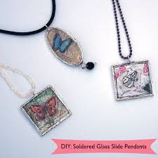 make glass necklace pendants images How to make soldered pendants png