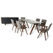 Modern Walnut Dining Chairs Maddox Weylyn Modern Walnut Dining Set