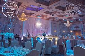 a winter wonderland wedding reception decoration