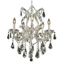 Aurora Chandelier Decor Living Venetian 9 Light Crystal And Chrome Chandelier 104994
