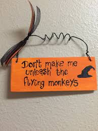 flying monkeys wood signs halloween signs witch hat halloween