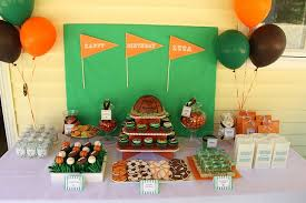 kids birthday party decoration ideas at home cheerleading football banner ideas kids birthday party theme