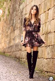dresses with boots 22 stylish to wear with boots this season
