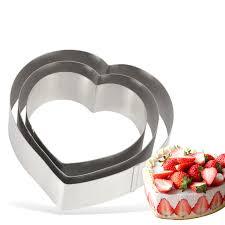 cercle de cuisine cercle à tarte gâteau moule en acier inoxydable coeur rond carré
