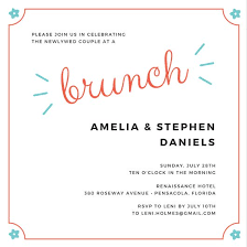 morning after wedding brunch invitations customize 109 brunch invitation templates online canva