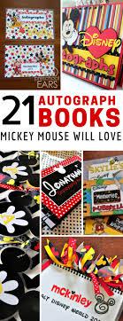 personalized autograph books 21 fabulous disney autograph book ideas for magic
