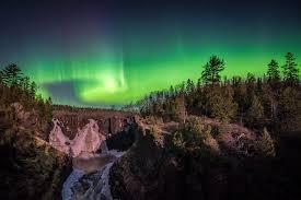 northern lights minnesota 2017 summer grand portage mn waterfall high falls northern lights aurora