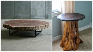 how to make a tree stump table tree trunk table ideas