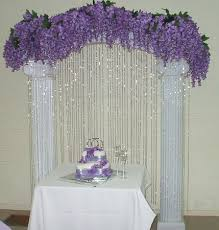 simple ways to decorate wedding arch wedding decorations crystal