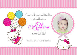 Free First Birthday Invitation Cards Invitation Templates U2013 Free Hello Kitty Birthday Invitations