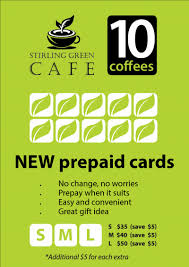 pre pay card pre paid coffee card hastings co op