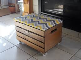 awesome diy storage ottoman wooden crates become a diy storage