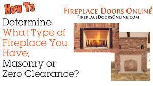 masonry or zero clearance fireplace youtube