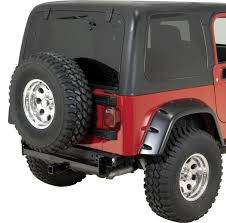 rugged ridge double tube rear bumper with hitch for 87 06 jeep