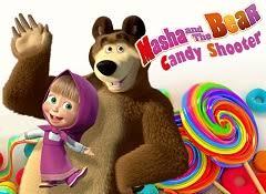 masha bear candy shooter masha bear games
