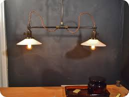 vintage industrial double shade ceiling sconce machine age flat