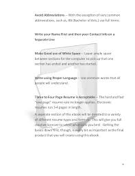 resume white space resumes and cover letters