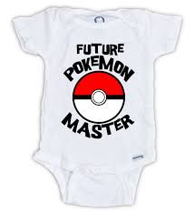 Cute Clothes For Babies Future Pokemon Master Onesie Pokemon Master Bodysuit Pokemon Go