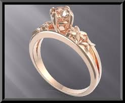 pink morganite unique flower design pink morganite gold engagement ring