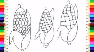 coloring pages roasted corn how to draw roasted corn art colors
