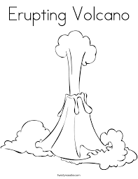 coloring pages volcano erupting volcano coloring page twisty noodle