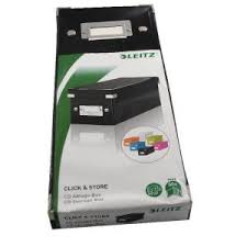 Cardboard Cd Storage Boxes by Leitz Click And Store Cd Storage Box Black 60640095 Es36647