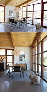The Dining Room by This Renovated Mid Century Modern Ranch House Is Surrounded By