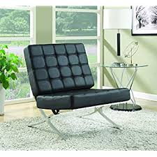 Modern Accent Chairs For Living Room by Amazon Com Baxton Studio Modern Leather Accent Chair Black And