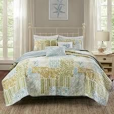 coastal theme bedding blue green white coverlet set coastal themed bedding