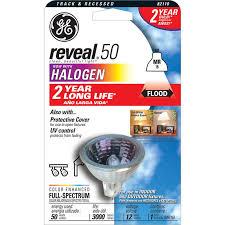 ge 50 watt mr16 bright white dimmable halogen flood light bulb