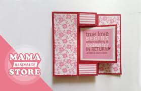 Tutorial Scrapbook Card | swing card tutorial flip card how to make card scrapbook youtube