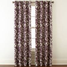 Plum Blackout Curtains Liz Claiborne Avery Floral Grommet Top Blackout Curtain Panel