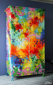 Painted Armoire Furniture Armoire Graffiti Painting Artwork On Furniture By Artist Dudeman