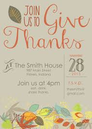 template thanksgiving invites template