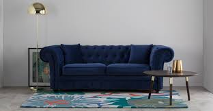 chesterfield sofa in living room branagh 2 seater chesterfield sofa electric blue velvet made com
