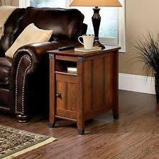 mission style side table side table drawer living room furniture wood shelf storage mission