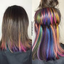 Color Hair Extension by Another Shot Of My Favorite Creation Underlights My Hair