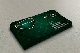 stylish green business card template free vector in adobe
