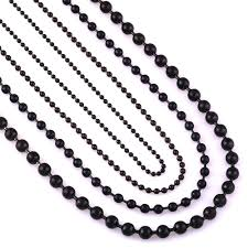 stainless ball chain necklace images Buy width 1 5mm 2 0mm 3 2mm 4 5mm black stainless jpg