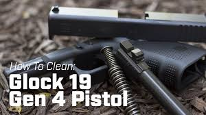 how to clean glock 19 gen 4 pistol youtube