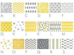 Yellow And Gray Crib Bedding Set Yellow And Gray Baby Bedding Sets Hamze