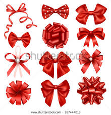 ribbon bows stock vector 187444013