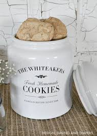 personalized cookie jars gift idea personalized cookie jar whiteaker