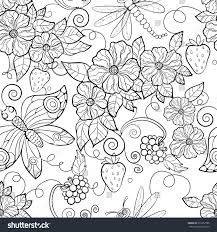 coloring pages of butterfly butterfly pattern flowers coloring pages adults stock vector