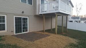 Basement Walkouts - patio pictures maryland decking decks patios and fencing