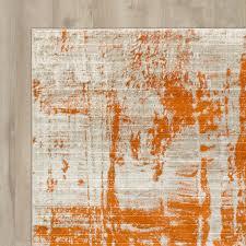 orange and grey area rug modern area rug orange gray 5x7 contemporary floor accent carpet