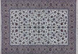 Silk Oriental Rugs New Ivory Signed Isfahan 8 U0027x12 U0027 Hand Knotted Wool U0026 Silk Persian