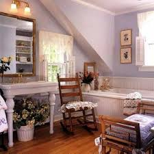 french country bathroom ideas with console sink and drop in tub