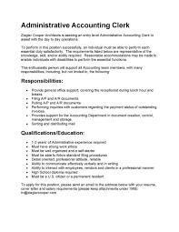 Sample Resume Accounting Clerk by Sample Resume Accounting Assistant Free Resume Example And