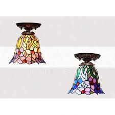 small tiffany style ls stained glass shade hallway tiffany ceiling light